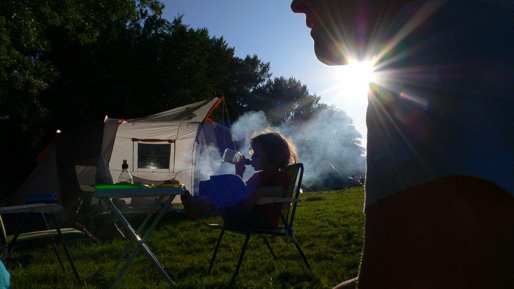 Emmenez les enfants en camping en septembre